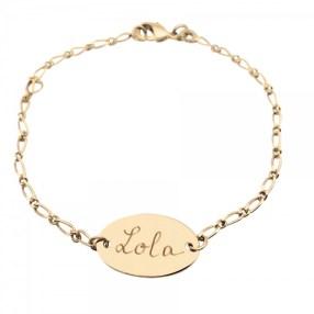 bracelet-gourmette-ovale-plaque-or-3-microns---personnalisable