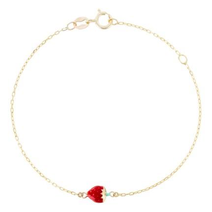 bracelet-or-jaune-enfant-jolie-fraise