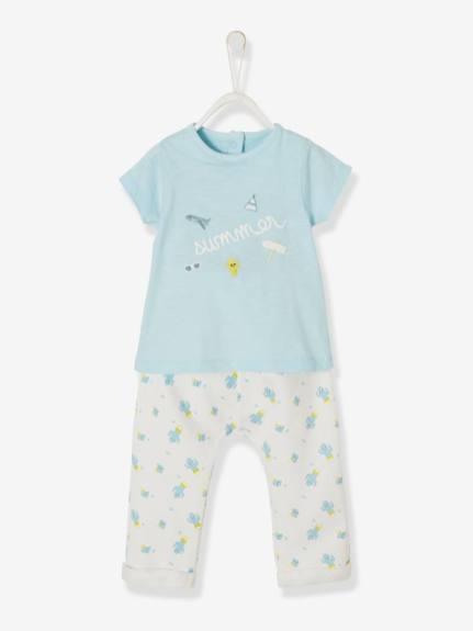 ensemble-t-shirt-body-pantalon-bebe-garcon-imprime