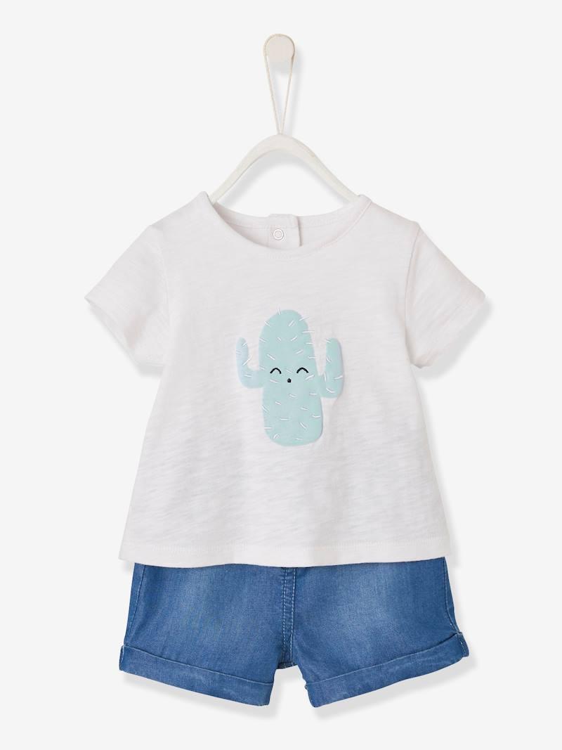 ensemble-t-shirt-cactus-short-en-denim-bebe-garcon