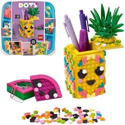 pot crayons lego dots
