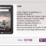 Tablet Coby Kyros 8 en Argentina, Precio y Caracteristicas 1