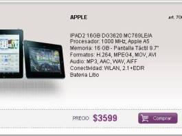 Ipad 2 de 16gb a $3599 en Argentina 2