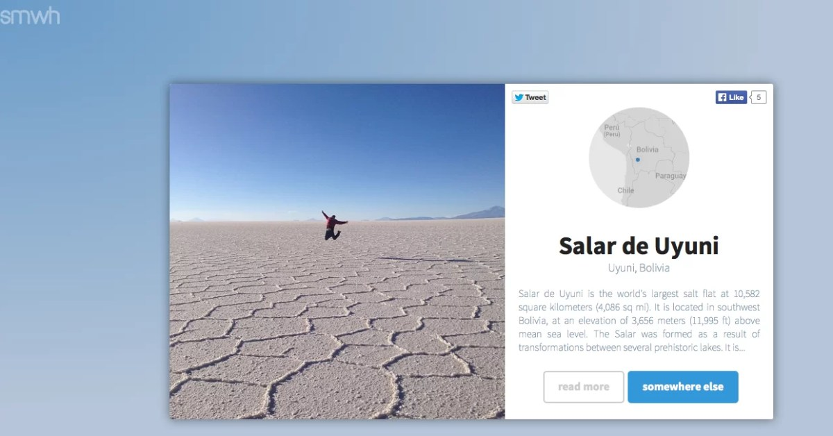 Somewhere: lugares espectaculares y usos innovadores de Instagram