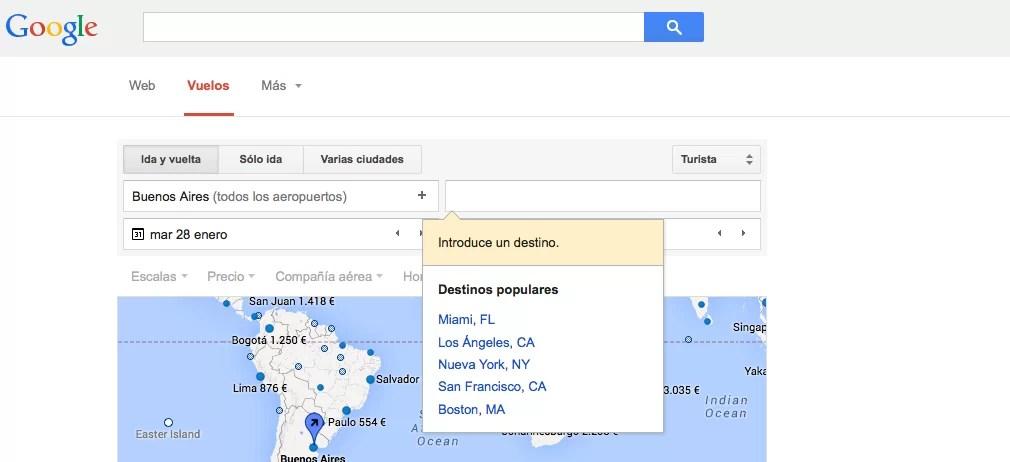 Google: próximo relanzamiento de su comparador de tarifas aéreas?