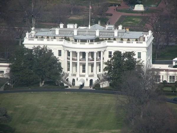 Casa Blanca, desde el Monumento a Washington