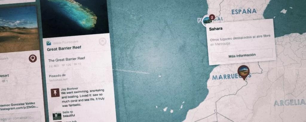Pinterest: mapas y pins para viajes