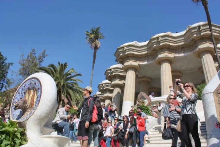 Park Güell y los turistas