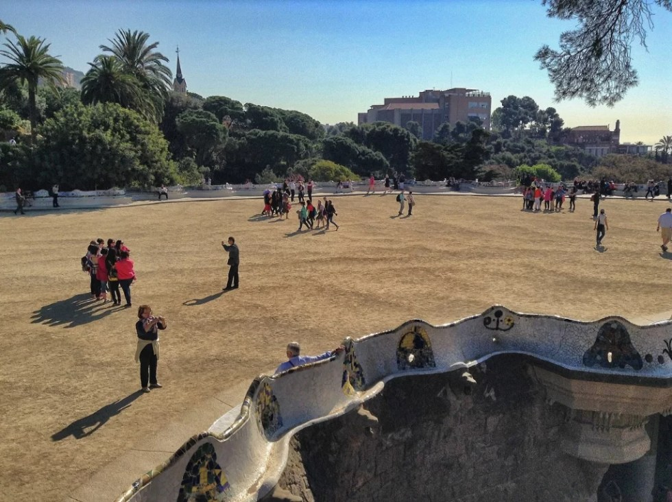 Park Güell, zona de ingreso