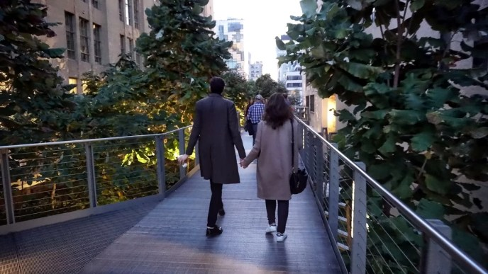 Highline Park, gente paseando