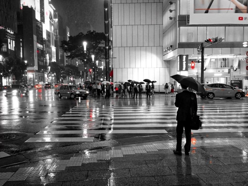 Tokio: la lluvia en Ginza