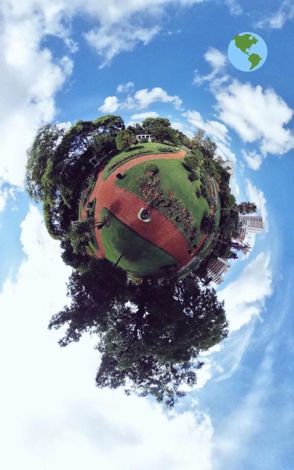 Parque Chacabuco Tiny Planet