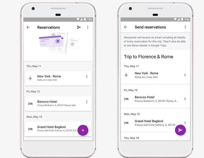 Google Trips y los listados automáticos de viajes