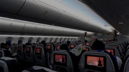 Pantallas en aviones