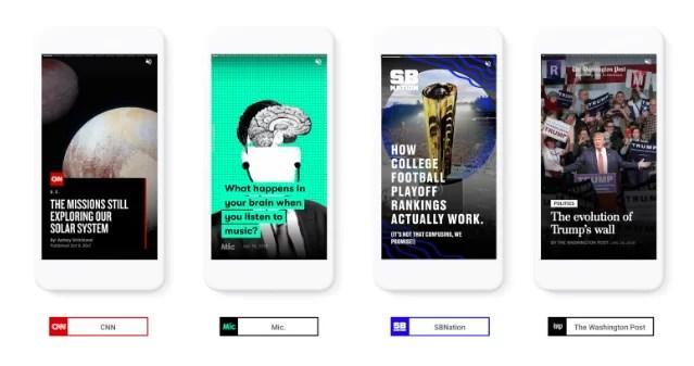 Google AMP y las historias visuales llegan a la Web
