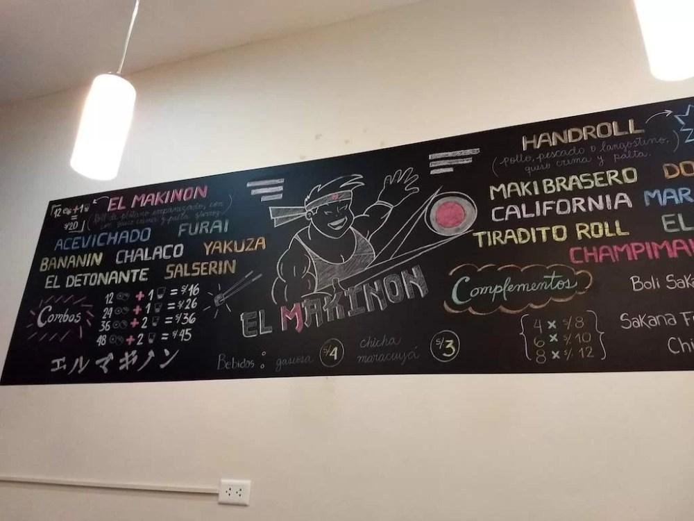 Sushi Peruano - El Makinon