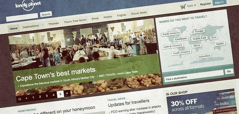 Guías de viaje, Internet y las dificultades de los negocios basados en contenidos