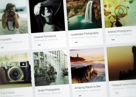 Comunidades de fotografía en google