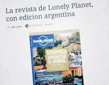 Lonely Planet versión argentina