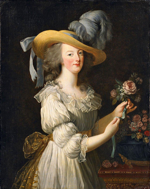 Maria Antonietta indossa la chemise a la reine 1783