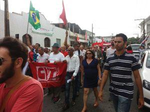 Em ato em defesa da democracia em JP, petistas atacam Moro e Cássio