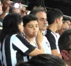 BASTIDORES: Cartaxo acompanha estreia do time de coração na Libertadores