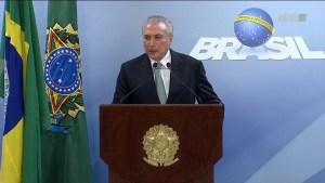 Temer desmarca reunião com prefeitos da Paraíba e bancada federal