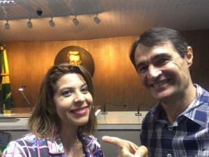 ALPB: Romero se encontra com Eliza em CG e destaca compromisso com tucana