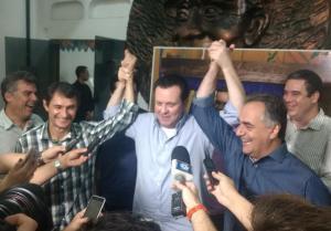 Eleições 2018: Durante coletiva, Kassab sela a unidade entre Romero e Luciano