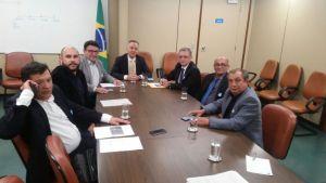 Galego Souza cumpre agenda com prefeitos e com líder Aguinaldo Ribeiro em Brasília