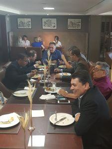 Cartaxo almoça com presidente nacional do PRB e celebra parceria na gestão de JP