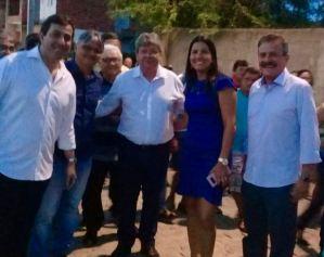 Prefeita do PSDB recebe João Azevedo e Gervásio Maia e confirma filiação ao PSB