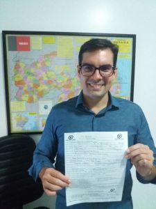 Lucas de Brito assina ficha de filiação ao PV e vai disputar uma vaga na ALPB