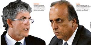 """Com o título """"Governadores sem foro"""", O Globo coloca Ricardo e Pezão na mesma 'panela'"""