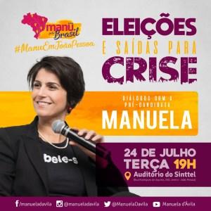 """Presidenciável do PCdoB estará em JP nesta terça para participar de debate: """"Eleições e saídas para crise"""""""
