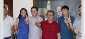 Presidente e vice do PSB de Manaíra anunciam apoio à candidatura de Maranhão