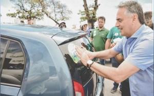 Presidente do PV em panfletagem na Capital: Com Lucélio, o governo vai cuidar das pessoas