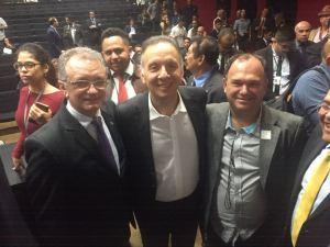 Aguinaldo Ribeiro e Galego Souza participam de convenção nacional do Progressistas