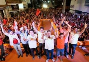 Doda de Tião comanda comício histórico em Queimadas com presenças de João, Vené, Couto e Wilson Santiago