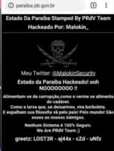"""Hackers invadem site do Governo do Estado e mandam recado: """"Nenhum sistema é 100% seguro"""""""