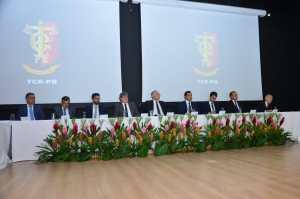 Luciano Cartaxo prestigia posse de Arnóbio Viana na presidência do TCE-PB