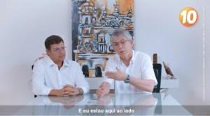 VÍDEO: Ricardo reaparece, pede voto para Vitor Hugo, mas silencia sobre Operação Calvário