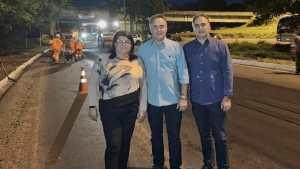 Luciano Cartaxo acompanha obras do Ação Asfalto na Avenida Sanhauá