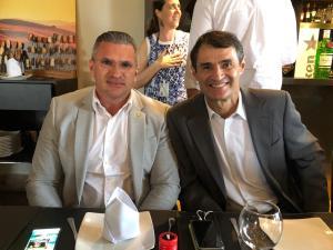 Clima de paz: Após polêmicas, Julian Lemos e Romero demonstram sintonia durante visita de ministro a CG; veja fotos