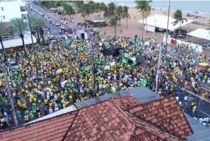 Paraibanos vão às ruas para defender projetos do governo Bolsonaro