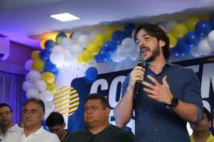 """VÍDEO: """"Ricardo Coutinho é ladrão"""", dispara Pedro Cunha Lima durante convenção do PSDB que o conduziu à presidência do partido"""