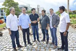 Cartaxo acompanha obras do Mais Pavimentação no Bessa e gestão investe mais de R$ 1 milhão no bairro
