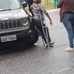 Com carro locado pela ALPB, Cida Ramos participa de bloqueio de avenida em João Pessoa