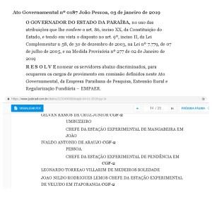 2B9494CF 7A48 4724 A661 4A1B7EDFCAA6 - EITAAA : Aliado de Ricardo Coutinho é nomeado para o governo de Bolsonaro