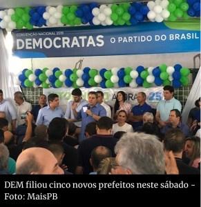 NOVAS FILIAÇÕES: Relação com Bolsonaro atrai prefeitos para o DEM